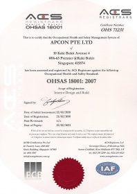 OHSAS 18001-2007 Certificate Image