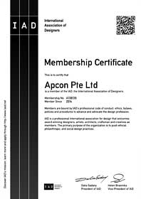 Office Interior Design and Office Furniture Singapore - IAD Membership - Apcon PTE LTD - Office Interior Design