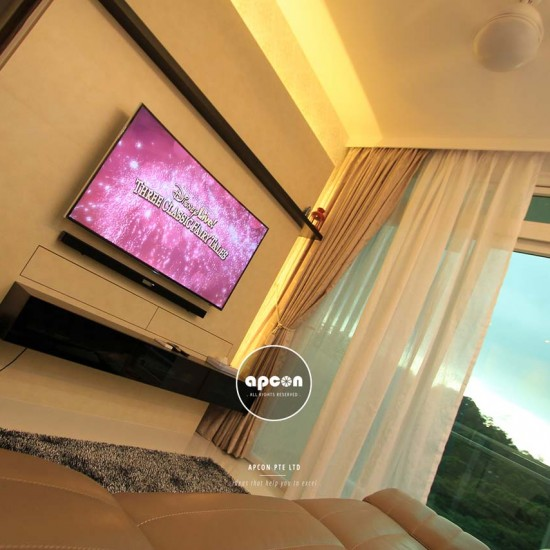 Office Interior Design and Renovation Singapore - OXL Interior - PR Residential - Living Hall TV Cabinet 4