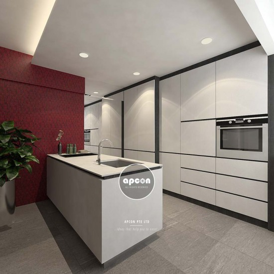 Office Interior Design and Renovation Singapore - Residential Interior Design - Kitchen 3
