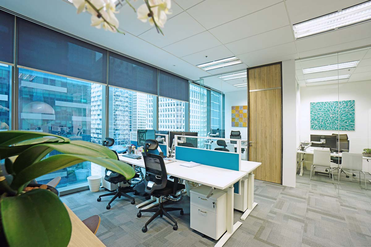 Office interior design singapore apcon pte ltd for Interior design of office