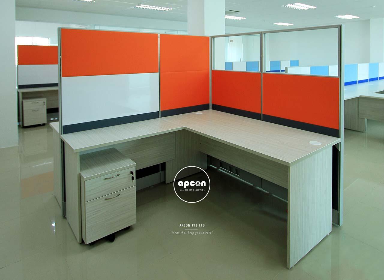 office furniture interior design. ST 12 . L-HIGH PANEL WORKSTATION. In Workstation. Office Interior Design Singapore - Furniture F